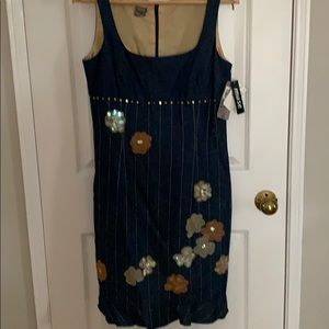 Jean dress with flowers